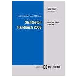 Sichtbeton Handbuch 2008 - Buch