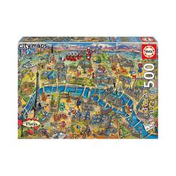 Educa Puzzle Puzzle Paris Map, 500 Teile, Puzzleteile
