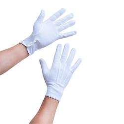 Herren Handschuhe Pantomime Butler Kostüm - weiß