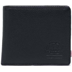 Geldtasche HERSCHEL - Wallets Leather Roy Coin XL Leather RFID Black Pebbled Leather (01885) Größe: