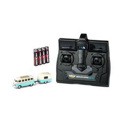 CARSON Spielzeug-Auto 1:87 VW T1 Samba Bus m.Anhänger 2.4G RTR