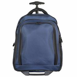 Dermata 2-Rollen Rucksack-Trolley 43 cm Laptopfach blau