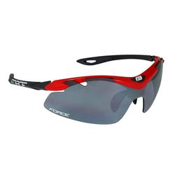 FORCE Fahrradbrille Duke, Polycarbonate Gläser rot