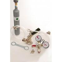 ich-zapfe Zubehörpaket 1 mit 1x 5 l Profi Adapter, 10mm Bierschlauch und 0,5 kg CO2 Flasche