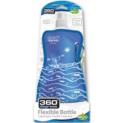 Flexible Drink Bottle Boat on Blue 750 ml faltbare Trinkflasche