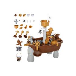 HOMCOM Sandkasten Kinder-Sandspielzeug Piratenthema
