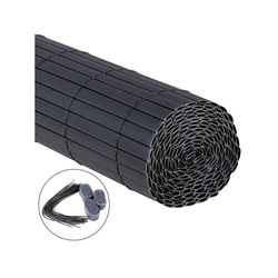 Woltu Balkonsichtschutz Sichtschutzmatte PVC grau 90 cm x 400 cm