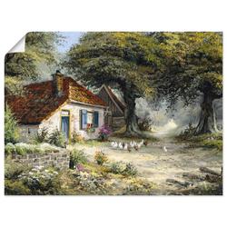 Artland Wandbild Märchenhaftes Ferienhaus, Garten (1 Stück) 40 cm x 30 cm