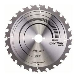 Bosch Kreissägeblatt Speedline Wood 250 x 30 x 3,2 mm 24