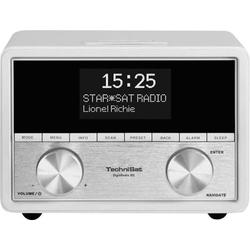 TechniSat DigitRadio 80 Radiowecker DAB+, UKW AUX Weiß