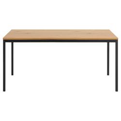 TRESCA Industrieller-Esstisch aus Metall und Holz L160 cm