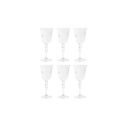 BUTLERS Weißweinglas CRYSTAL CLUB 6x Weißweinglas 210ml, Kristallglas