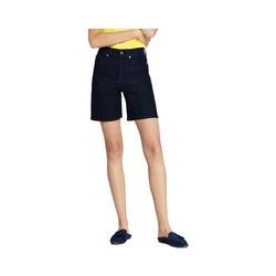 Taillenhohe Jeans-Shorts in Indigo - S - Blau