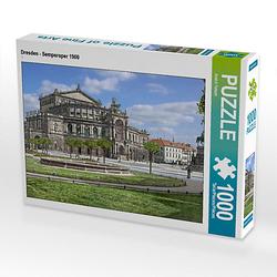 Dresden - Semperoper 1900 Lege-Größe 64 x 48 cm Foto-Puzzle Bild von André Tetsch Puzzle