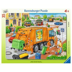 Ravensburger Rahmenpuzzle Müllabfuhr - Rahmenpuzzle, 35 Puzzleteile bunt