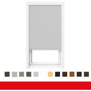 Iglo 5 Classic 1. flg. Fenster mit Aufsatzrollladen (B=600-1300 / H=1350), Anschlag: DIN Rechts, Glas: 3-Fach, BxH: 1200x1350 (120x135 cm), Antrieb: Gurtwickler
