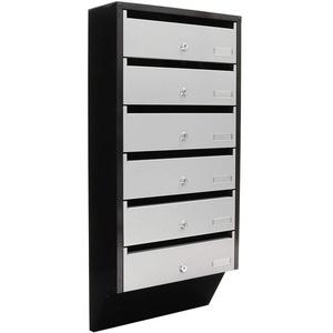 Profirst Briefkastenanlage Quarten 6 silber/schwarz