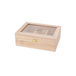 HTI-Living Teebox Teekiste Tea, Holz, Glas, (1-tlg)