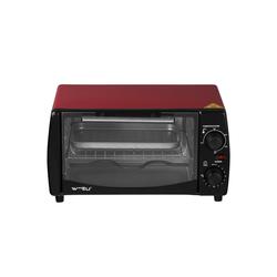 Woltu Küchenwagen, Mini Backofen mit Backblech, 800 Watt, 12 Liter rot