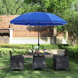 SONGMICS Sonnenschirm-Schutzhülle GPU60GN GPU60BU, Sonnenschirm, Sonnenschutz, Ø 160 cm, UV Schutz UPF 50+, blau blau