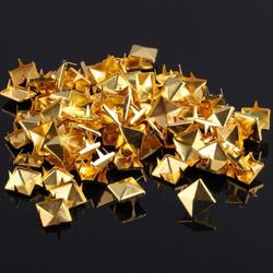 25 x 25 Pyramidennieten Ziernieten Metall Nieten Spikes Gothic Punk - gold