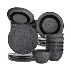 """LEONARDO Kindergeschirr-Set 24-tlg. Keramik Set """"MATERA"""", sand grau"""