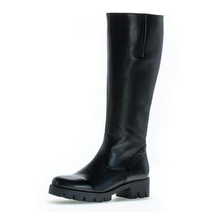 Gabor Damen Stiefel, Frauen Plateau Stiefel,Wechselfußbett,Best Fitting, langschaftstiefel reißverschluss Boots,schwarz,39 EU / 6 UK
