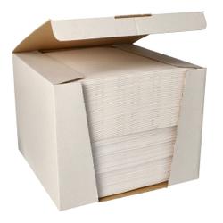Papstar ROYAL Collection Servietten, 40 x 40 cm, weiß, 3-lagige Premium-Servietten in Stoffoptik, 1 Spenderbox = 100 Tücher