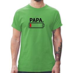 Shirtracer T-Shirt Papa leere Batterie - Partner-Look Familie Papa - Herren Premium T-Shirt - T-Shirts papa leere batterie L