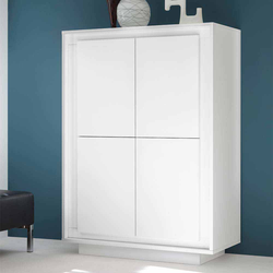 4 türiges Highboard in Weiß modern