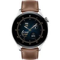 Huawei Watch 3 Classic Silber Lederen Armband Braun