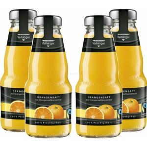 Niehoffs Vaihinger Orangensaft 0,2L TWO - 4er Set inkl. Pfand MEHRWEG