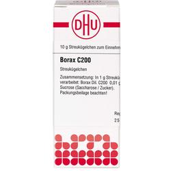 BORAX C 200 Globuli 10 g