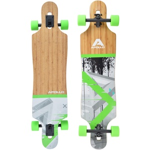 "Apollo Longboard Upolu 40"" Komplettboard mit High Speed ABEC Kugellagern, Drop Through Freeride Skaten Cruiser Board"