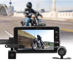 MACHSWON Motorrad-Aufnahmekamera, Dashcam, wasserdicht, vorne und hinten, Dual-Video, HD 1080p