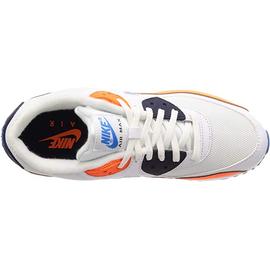 Nike Men's Air Max 90 Essential white-orange-navy/ white-navy, 42.5