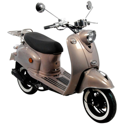 AGM MOTORS Motorroller GMX 460 Retro Classic NF Edition, 50 ccm, 45 km/h, Euro 4 braun