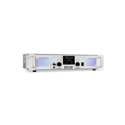 skytec SPL-700-MP3 PA-HiFi-Verstärker 2 x 350W USB-SD-MP3 weiß Verstärker weiß 48 cm x 9 cm x 26 cm