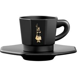 BIALETTI Espressotasse, (Set, 8 tlg.), 4 Tassen, Untertassen schwarz Becher Tassen Geschirr, Porzellan Tischaccessoires Haushaltswaren Espressotasse