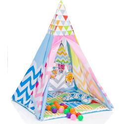 Fillikid Spielzelt Tipi, bunt Kinder Spieltunnel Outdoor-Spielzeug