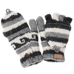 Guru-Shop Strickhandschuhe Handschuhe, handgestrickte Klapphandschuhe,..