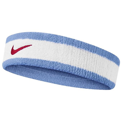 Nike Swoosh Stirnband White/Light Blue One Size