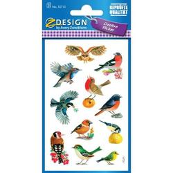 Sticker 76x120mm Papier 3 Bogen Vögel