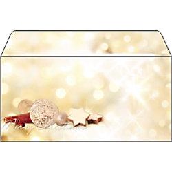 Sigel Weihnachtsbriefumschläge Zimtstern DL 90 g/m² Farbig sortiert 25 Stück