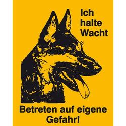 Hinweisschild Schäferhund Kunststoff (B x H) 120mm x 150mm 1St.