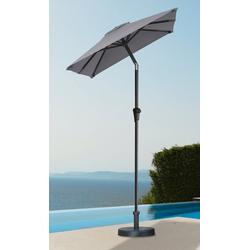 garten gut Sonnenschirm, LxB: 120x190 cm, abknickbar, ohne Schirmständer grau