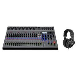 Zoom LiveTrak L-20 Digitales Mischpult Set inkl. Kopfhörer