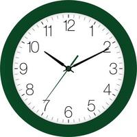 EUROTIME 88800-09-3 Quarz Wanduhr 30cm x 4.5cm Dunkelgrün Schleichendes Uhrwerk (lautlos)