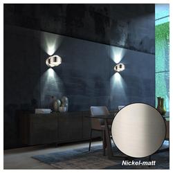 etc-shop Wandstrahler, 2er Set LED Wand Beleuchtungen UP DOWN Strahler Glas Kugel Lampen Leuchten