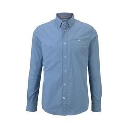 TOM TAILOR Herren Gemustertes Hemd, blau, Gr.XL